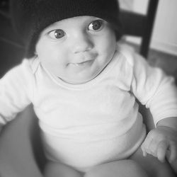 Baby with Matco tools beanie